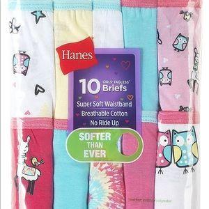 Hanes Girls Tagless Briefs Size 14